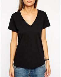 ASOS | Black The V Neck T-shirt | Lyst