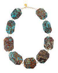 Devon Leigh - Blue Chunky Ocean Jasper Station Necklace - Lyst