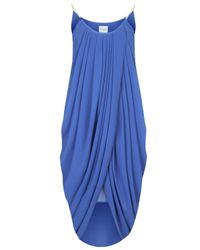 TOPSHOP | Womens Anja Drape Dress with Chain By Jovonna Blue | Lyst