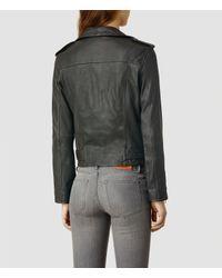 AllSaints - Gray Balfern Biker - Lyst