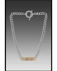 CC SKYE - Whats Your Name Necklace in Metallic Silver - Lyst