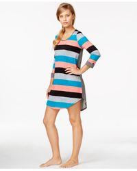 Ellen Tracy | Multicolor 3/4 Sleeve Sleepshirt | Lyst