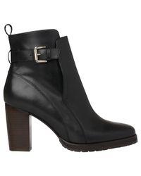 Whistles Black Elgin Block Heeled Ankle Boots