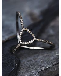 Free People | Metallic Adorned Diamond Ring | Lyst