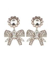 Miu Miu - Metallic Embellished Clip-on Earrings - Lyst
