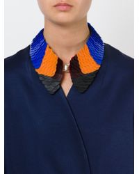 Marni - Black Colour Block Scale Bib Necklace - Lyst