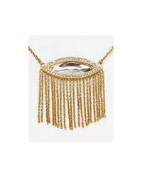 "Rebecca Minkoff - Metallic Phoenix Fringe Pendant Necklace 16"" - Lyst"