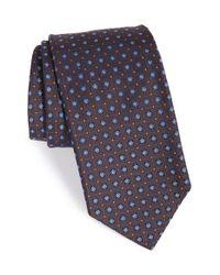 Robert Talbott Blue Best Of Class Geometric Silk Tie for men