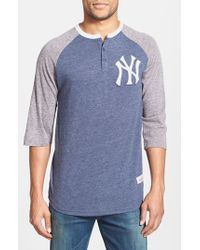 Mitchell & Ness   Blue 'new York Yankees - Hustle Play' Tailored Fit Henley for Men   Lyst