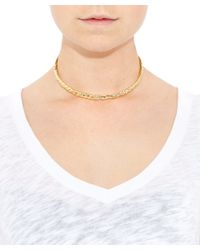 Jennifer Fisher | Metallic Small Gold-plated Braid Choker | Lyst