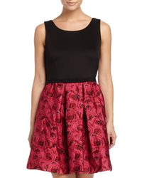 Taylor/siouni & Zar Corp. - Black Sleeveless A-line Jacquard Dress - Lyst