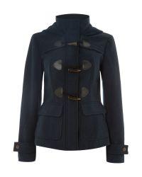 Vero Moda | Blue Long Sleeved Short Duffle Coat | Lyst