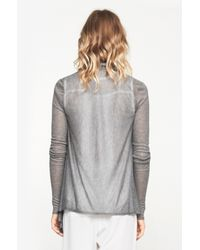 Helmut Lang - Gray Drape Front Sweater - Lyst