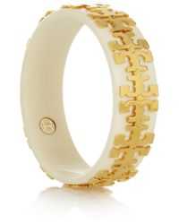 Tory Burch - Metallic Gold-plated Acetate Bangle - Lyst