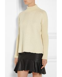 McQ Natural Oversized Ribbed Felt-Wool Sweater
