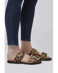 TOPSHOP Multicolor Franco Double Buckle Sandal