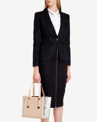 Ted Baker - Natural Exotic Leather Shopper Bag - Lyst