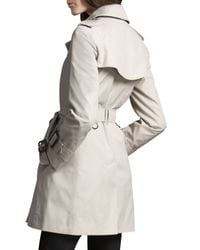 Burberry Brit - Gray Marystow Coat Trench - Lyst