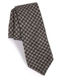 Todd Snyder | Gray Medallion Silk & Cotton Tie for Men | Lyst