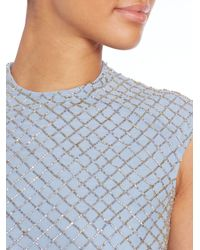 Needle & Thread - Blue Circle Mesh Dress - Lyst