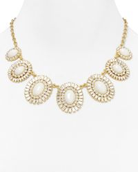 kate spade new york | White Capri Garden Necklace 18 | Lyst