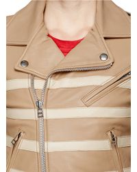 Each x Other Natural Stripe Leather Biker Jacket