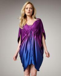 Nicole Miller Artelier - Blue Ombre Shift Dress 8 - Lyst
