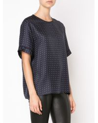 Rag & Bone - Blue Rudy Printed Silk Top - Dots - Lyst
