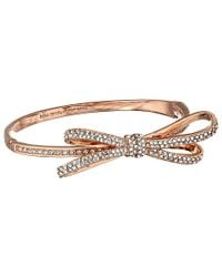 kate spade new york - Pink Tied Up Pave Hinge Bangle - Lyst