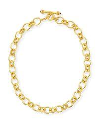 Elizabeth Locke | Metallic Lampedusa 19k Gold Link Necklace | Lyst
