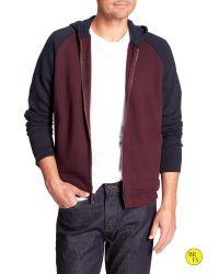Banana Republic | Red Factory Zipper Hoodie for Men | Lyst
