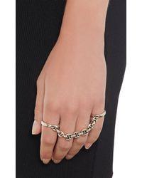 Hoorsenbuhs   Metallic Diamond Sterling Silver Bonded Ring   Lyst