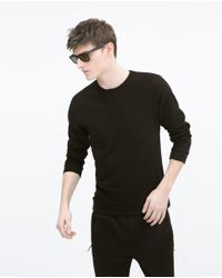 Zara | Black Sweatshirt for Men | Lyst