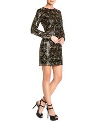 Dress the Population | Black 'bailey' Long Sleeve Sequin Dress | Lyst