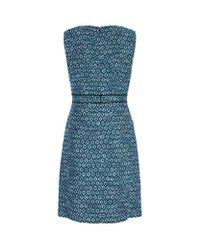 Diane von Furstenberg Blue Leelou Shift Dress