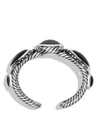 David Yurman Metallic Grisaille Cuff With Hematine, Crystal, And Diamonds