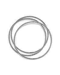 David Yurman - Metallic Cable Classics Three Bangle Bracelet Set - Lyst