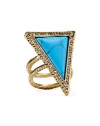 House of Harlow 1960 - Blue 1960 Triangle Theorem Ring - Lyst