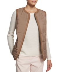 Loro Piana - Brown Gavin Leather Vest - Lyst