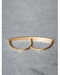 Free People | Metallic Sweet Diamond Double Ring | Lyst