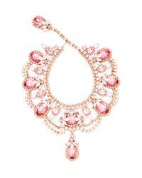 Carole Tanenbaum | Pink Thorin Rhinestone Bib Necklace | Lyst