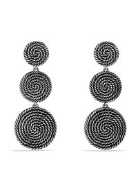 David Yurman - Metallic Sterling Silver Coil Drop Earrings - Lyst