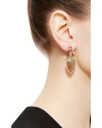 Nak Armstrong - Natural One Of A Kind Sapphire And Imperial Topaz Earrings - Lyst