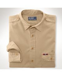 Polo Ralph Lauren | Natural Classic Canvas Military Shirt for Men | Lyst
