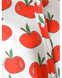 Au Jour Le Jour Red Apple Print Jumpsuit