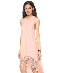 Nightcap Pink Crochet Hanalei Dress - Natural