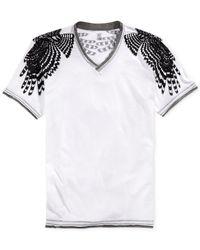 INC International Concepts - Gray Wings V-Neck T-Shirt for Men - Lyst