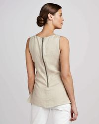 Lafayette 148 New York - Natural Rona Embellished Top - Lyst