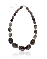 Lord & Taylor | Brown Pietersite And Sterling Silver Necklace | Lyst