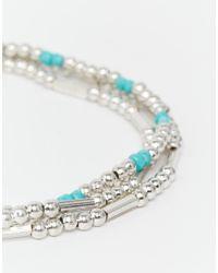 Pieces - Metallic Nanny Anklet - Lyst